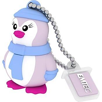 Emtec Clé USB 2.0 8Go Design Animalitos Lady Penguin Figurine Matière Gomme Souple Vintage