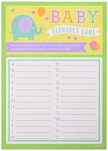 Amscan380044Juego del alfabeto para baby shower