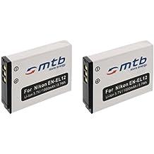 2x Batteria EN-EL12 per Nikon Coolpix S9100, S9200, S9300, S9400, S9500...+ vedi lista!