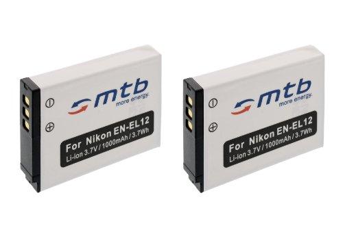 2x Batería EN EL12 para Nikon Coolpix S9100, S9200, S9300, S9400, S9500.... (ver descripción)