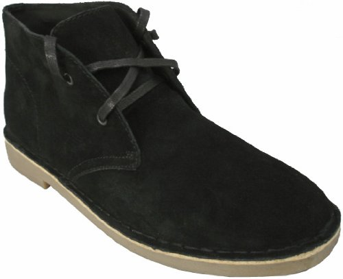 Roamers , Bottines chukka homme Noir - Black / Light Soles