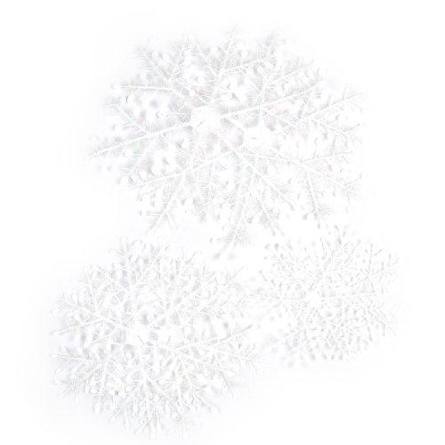 hneeflocke Weihnachtsbaum Dekor Kunststoff Weiß Glitter Stick Accent 35cm DE de ()