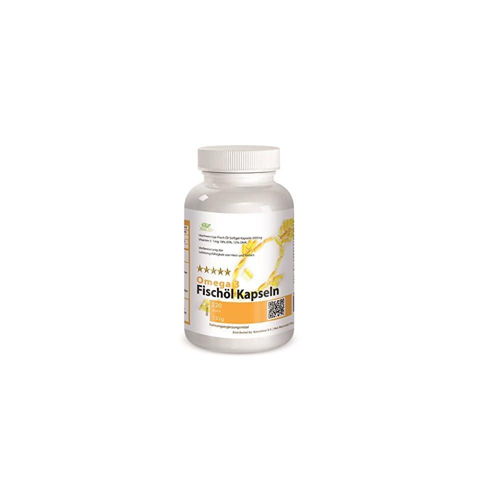 Omega 3 Fischl Kapseln 220 Stck Vitamin E 1mg 18 Epa 12 Dha Hammerpreis