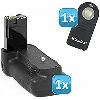 Meike–Impugnatura portabatteria professionale per Nikon D80e D90come MB-D80–Impugnatura di qualità con scatto verticale, doppia capacità con 2batterie o 6batterie AA + 1x telecomando a infrarossi.