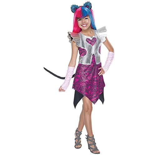 Monster High Catty Noir Gr. L (8-10 Jahre) Fasching Karneval Kostüm Kinderkostüm Mottoparty Kleid Boo York (Catty Noir Boo York Kostüm)
