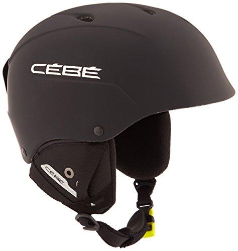 Cébé - Contest - Casque de ski - Mixte - Adulte - Noir Mat & Argenté - 58 - 62 cm (Matte Black/Silver)