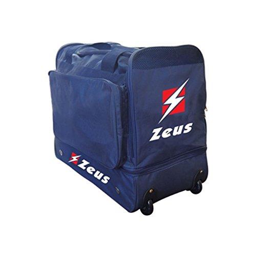 Zeus Herren Sporttasche Trolley Schultertasche Gym Bag Fußball Umhängetasche BORSA MINI STAR 56X31X48 cm SCHWARZ BLAU ROYAL (ROYAL-BLAU) BLAU