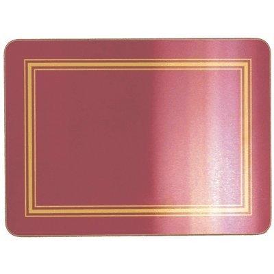 Lot de 4Vin Rouge en liège Sets de table avec dessous-de-verre assortis. Code 4bmtm 4bmco