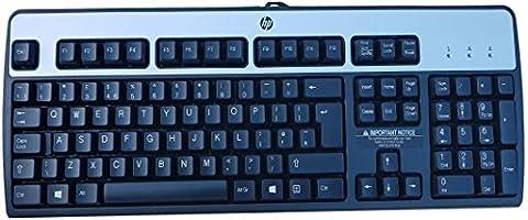 HP 434820-037 PS/2 Corded Black & Silver Computer Windows 8 UK Keyboard (PS/2)