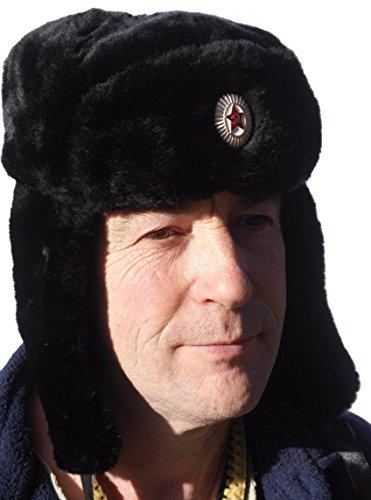 Ushanka Russian Army Style Trapper Hat - 59cm - Gorro de esquí para Hombre 52c1abbcbb0