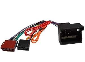 Aerzetix C4347 Câble Adaptateur Faisceau Convertisseur Fiche ISO Autoradio