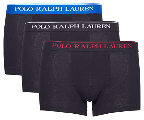 Polo Ralph Lauren Herren Boxershorts 3er Pack Classic Trunk (5 (Gr. Medium), 016 Schwarz/Schwarz/Schwarz)