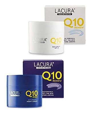 Aldi Lacura Q10 Renew Moisturising Face Creams Night plus Day SPF 20 Anti Wrinkle Anti Aging 50 millilitre
