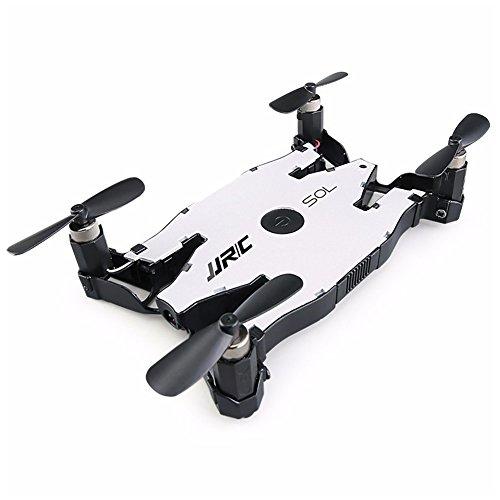 OUYAWEI Vielgefragte Produkte JJRC H49 Ultradünne Drohne HD Wi-Fi-Kamera mit Live-Übertragung und Beauty-Modus 1-Key Return Altitude Control Kompatibel mit iOS und Android White (Export Version)