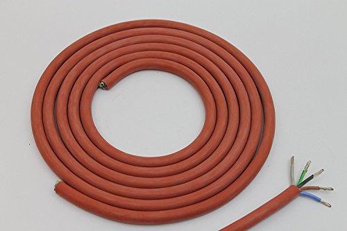 3 meter 5 x 1,5 mm. Doubleyou Geovlies & Baustoffe Silikonkabel 5 x 1,5 mm Zuschnitt Silikonleitung Saunakabel - Hitzebeständig und optimal für den Einsatz in der Sauna (3 m)