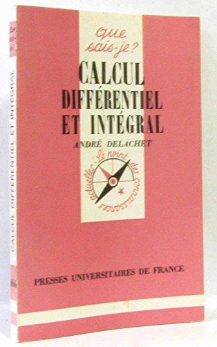 Calcul diffrentiel et intgral