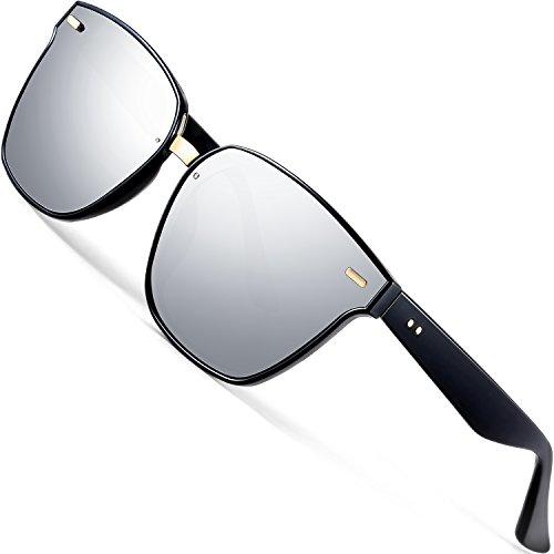 ATTCL Unisex Sonnenbrille 100% Polarisierter UV-Schutz 555-silver