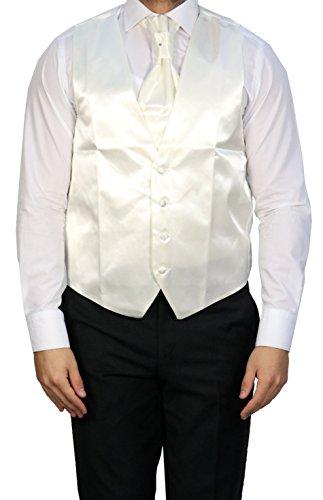 MUGA - Gilet da sposo - Senza maniche  - Uomo Off-White - Creme/Ivory