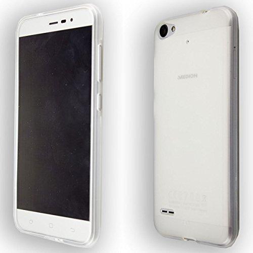 caseroxx Handy TPU-Bumper für Medion Life E5006 MD 60227 aus TPU, stoßfeste Schutzhülle Smartphone (Handyhülle TPU in transparent)