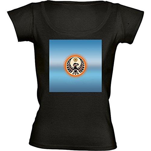 round-neck-black-t-shirt-for-women-medium-size-native-american-shield-by-hera56