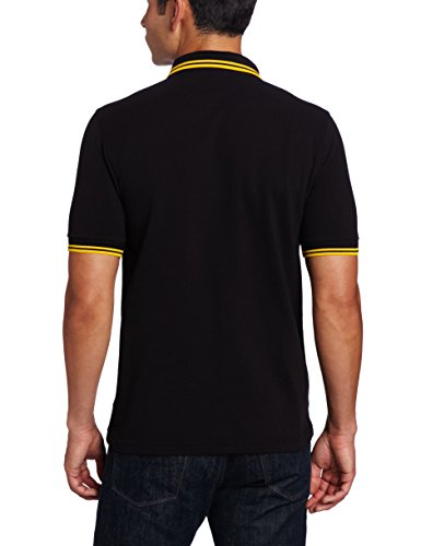 Fred Perry Herren Poloshirt Black/Yellow/Yellow