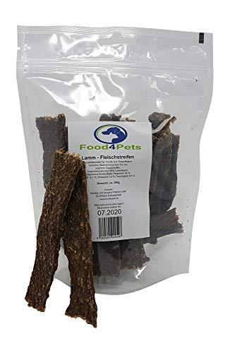Food4Pets Lamm Fleischstreifen Hundeleckerli 250g - herzhafte Kaustreifen für Hunde