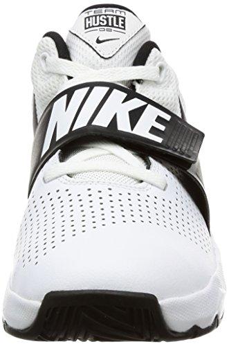 Nike Team Hustle D 8 (GS), Chaussures de Basketball Garçon Blanc Cassé (Whiteblack 100)