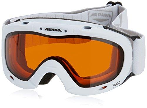 Alpina Unisex - Kinder Skibrille Ruby, weiß dlh (white dlh), One size, 7049132