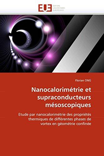Nanocalorimétrie et supraconducteurs mésoscopiques