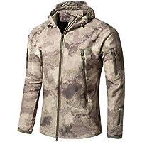 a05b0ddc95 YuanDian Uomo Tattico Camouflage Softshell Giacca Autunno Inverno Outdoor  Militare Pile Fodera Impermeabile Antivento Giubbotto con