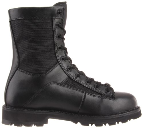 Bates Mens Defender 8 Inch Lace to Toe Waterproof Waterproof Boot Black
