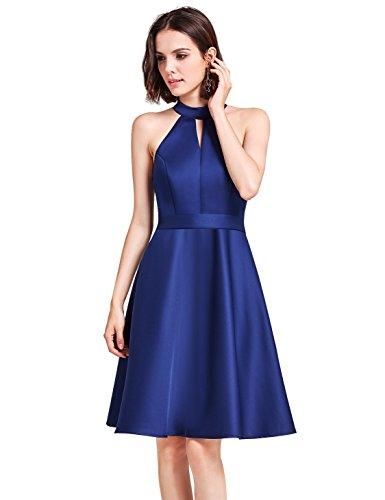 Ever Pretty Damen Elegant Formell Party Hochzeit Casual Kurz Kleider 05893  40 dunkel blau 743fca858b