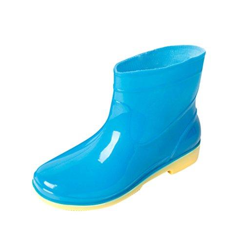 Xinwcang Men Women Short Ankle Height Wellies - Unisex Slip on Waterproof Outdoor Wide Foot Fit Rain Boots