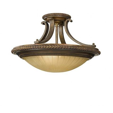 Kelham Hall 2 Light Semi-Flush Ceiling
