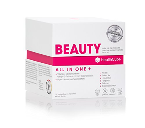 Beauty Box – Multivitamin Kapseln Hochdosiert | Anti-Aging Pflege für Haut, Haare & Nägel | Vitamin A, B6, B12, C, D3, E/Mit Omega 3 / Creatin/Zink • 100% Vegan • Made in Germany / 30 TAGE VORRAT