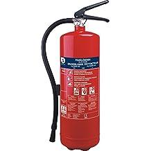 Smartwares BB6 - Extintor, resistencia al fuego ABC, incluye soportes (6 kg de polvo seco) color rojo