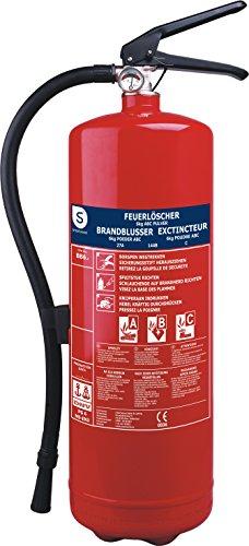 Smartwares BB6.4 ABC-Feuerlöscher 6 Kg, Pulverlöscher mit Manometer und Schlauch