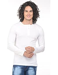 Trendy Trotters Round Neck Button Down Men's Full Sleeves T-Shirts