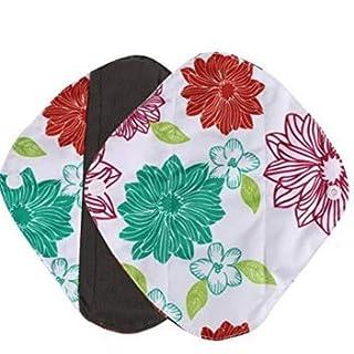 ANKKO  ® Naked flower printed panty liner, reusable bamboo fiber washable menstrual pad sanitary napkin