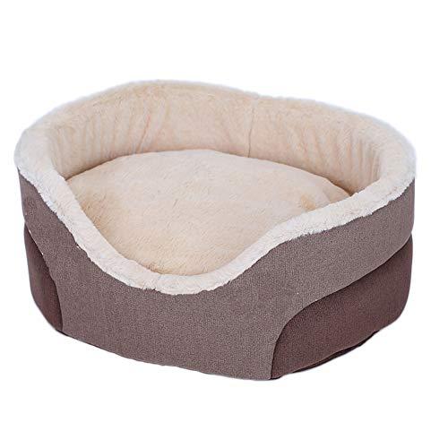 LOVEWO Sofa-Stil Mode Haustier Nest Atmungsaktive Rutschfeste Polyester Faser Material Geeignet Für Kätzchen Und Welpen (Braun),S
