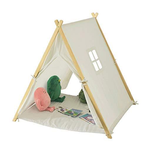 lzelt Zelt für Kinder mit 2 Türen und einem Fenster Spielhaus Weiß BHT ca.: 104x110x100cm ()