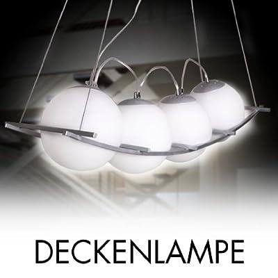 4-er Design Deckenlampe Hängeleuchte Pendelleuchte Milchglas weiches Licht von Bouhome bei Lampenhans.de