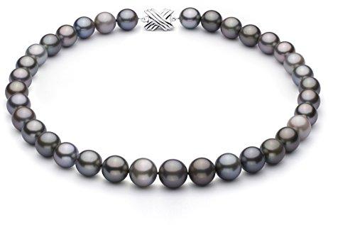 (PearlsOnly Halskette mit mehrfarbigen, 9.22-13.87mm großen Tihitianischen Perlen in AA+-Qualität -18 cm)