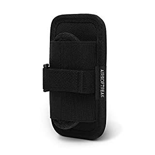 AIRSOFTPEAK Torch Pouch, Stretchy Flashlight Holster Tactical Torch Case Holder with 360 Degrees Rotatable Belt Clip