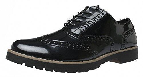 Fitters Footwear - Isabelle - Damen Halbschuhe - Lack Schwarz Schuhe in Übergrößen, Größe:44