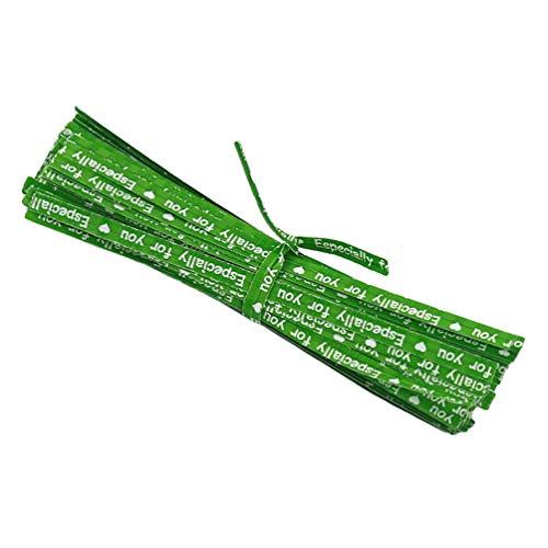 Tie Bunte Papier Twist Bread Krawatten für Party Cello Candy Taschen Cake Pops ()