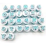 Juego de sellos de galletas, números y alfabeto, letras digitales, cortadores de galletas
