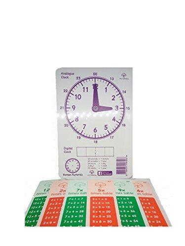 Zeit und My Times Tables Lesezeichen KS1KS2Legasthenie Uhr (Die Kinder Lernen Zu Sagen, Zeit, Uhr)