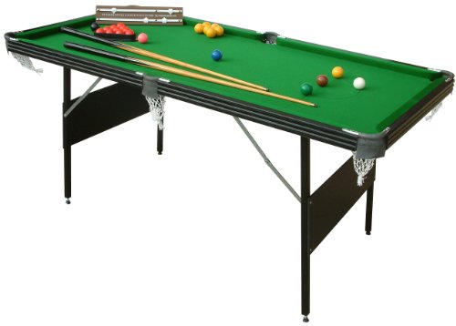 Mightymast-Leisure-6ft-CRUCIBLE-2-IN-1-Fold-Up-Quality-Deluxe-Snooker-Pool-Table-With-Green-Cloth-All-Accessories