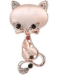 7d4ce35ce135 Gysad Broches Forma de zorro Broches de bisuteria baratos Delicado y encantador  Broches para ropa mujer